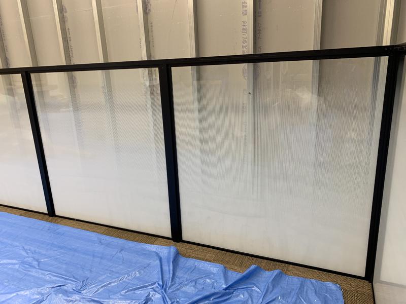 ガラス装飾後